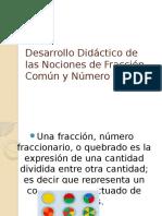 Desarrollo Didáctico de Las Nociones de Fracción Común