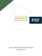 arts and cultural internship guide