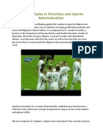 Modern Styles in Direction and Sports Administration