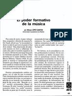 Alfonso López Quintás El Poder Formativo de La Música