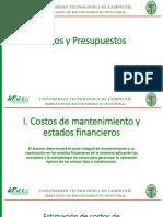 costos y presupuestos de mantenimiento industrial