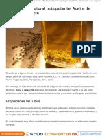 El Antibiótico Natural Más Potente. Aceite de Orégano Silvestre