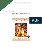 Yo y Tu Martin Buber