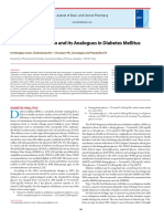 Review of Insulin and Its Analogues in Diabetes Mellitus