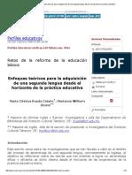 Perfiles Educativos - Enfoques Teóricos Para La Adquisición de Una Segunda Lengua Desde El Horizonte de La Práctica Educativa