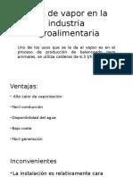 Usos de Vapor en La Industria Agroalimentaria
