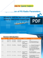 GSM Training Materials for Special Subjects--Optimization of PS Radio Parameters_R2.0