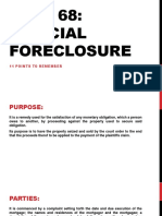 11 Points to Remember Judical Foreclosure