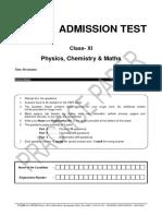 Class 11 Practice Paper-pcm