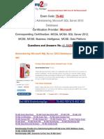 [100% PASS]Braindump2go Free 70-462 Dumps PDF 41-50