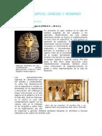 Arte Egipcio, Griego y Romano