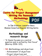 Centre for Project Management - Writing the Research Methodology