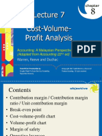 Lecture 7 - CVP Analysis