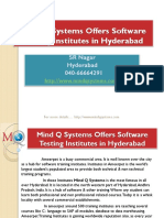 Mind Q Systems Offers Software Testing Institutes in Hyderabad