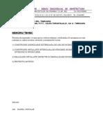 MEMORIU TEHNIC- Certificat Urbanism Timisoara