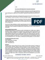 Aurobindo Pharma receives USFDA Approval for Tranexamic Acid Injection [Company Update]