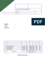 Calc ORF Demin Tank