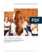 Girl's Shine Academy Vision Document