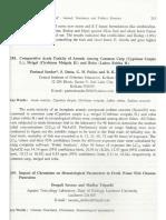 Comparative Acute Toxicity of Arsenic Among Common Carp (Cyprinus Carpio L.), Mrigal (Cirrhinus Mrigala H.) and Rohu (Labeo Rohita H.)