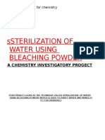 Project-Sterilization of Water Using Bleaching PowderANIMESH