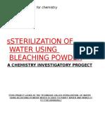 Project-Sterilization of Water Using Bleaching PowderANIMESH