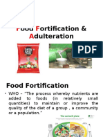 Food Fortification & Adulteration