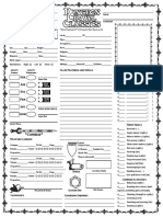 Dcc Rpg Character Sheet 2 Pages