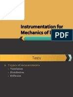 Instrumentation for Mechanics of Breathing