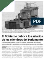 160118 La Verdad CG- El Gobierno de Gibraltar Publica Los Salarios de Los Miembros Del Parlamento p.6