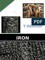 Iron and Thorium