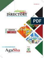 Kenya Agribusiness Directory 2015 by Agasha