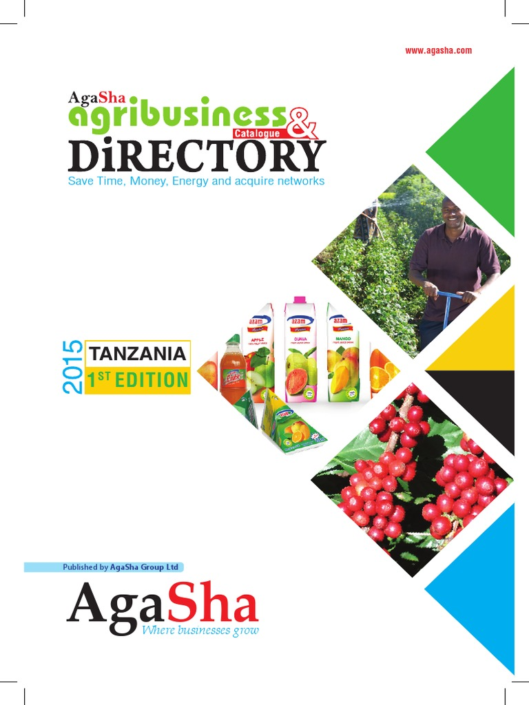 Tanzania Agribusiness Directory 2015 by AgaSha | Tanzania | Agriculture