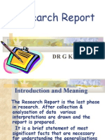 Preparing Research Report