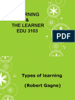 Types of Learning, Gagne