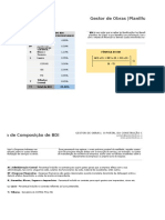 Gestor de Obras - Composição de BDI