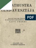 Zend Avesta Magyarul