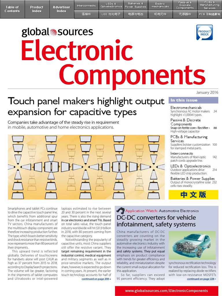 Global Sources / Electronic Components / 01-2016 | Electrical ... on