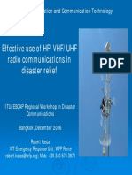Effective use of HF/VHF/UHF radio communications in disaster relief