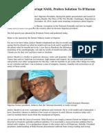 Obasanjo Blasts Corrupt NASS, Profers Solution To B'Haram