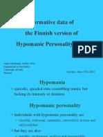 Scala de Personalitate Hypomaniacala (HPS)