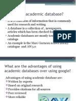 enadeem maarigkhan aisha google vs academic databases1pptx