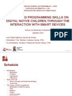Developing programming skills on digital native children through the interaction with smart devices (Apresentação)