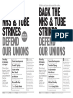 UtR Back the Nhs and Tube Strikes A5