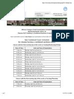 Schedule of Classes - Final Exam Schedule