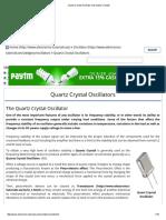 Quartz Crystal Oscillator and Quartz Crystals