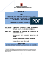 Opinioni i PD-së për Amendamentet Kushtetuese 2 - Kom Venc 17.1.2016