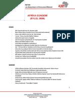 Afrika Gundemi Eylul 2009