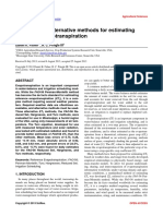 Evaluation of Alternative Methods for Estimating Reference Evapotranspiration