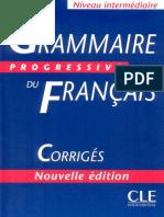 Grammaire Progressive du Français - Niveau Intermédiaire - Livre + Corrigés