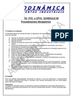 Tubulacao Pvc Cpvc Schedule 80 Procedimentos Obrigatorios